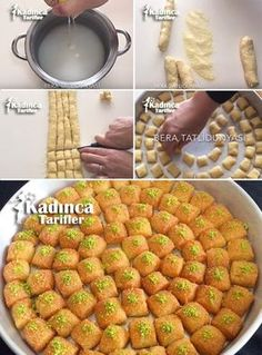 10 Dakikada Lokmalık İrmik Tatlısı Tarifi – Tatlı tarifleri – Las recetas más prácticas y fáciles East Dessert Recipes, Delicious Desserts, Yummy Food, Puff Pastry Recipes, Sweet Pastries, Iftar, Turkish Recipes, Food Humor, Decorated Cookies