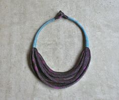 Silk aBimBeri  necklace/ upcycled/ Fabric necklace / by aBimBeri
