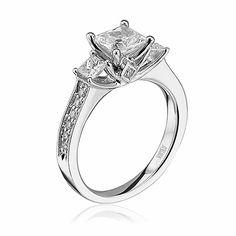 1st choice- Scott Kay, The Crown, bridal, Ladies Bridal : Engagement Styles, M1599QR310 with black diamond center stone