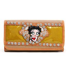 Health  Beauty Collection  - Betty Boop® Checkbook Wallet w/ Rhinestones $25.99