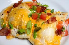 .easy bacon pierogi bake. (from Cooking Light)