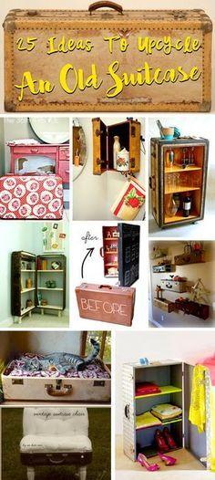 25 Incredible Ideas To Upcycle An Old Suitcase Almost Effortlessly