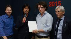 "Cristalplant Design Contest 2015"" award ceremony.   Vittorio Pavarin (Head of Cristalplant® Sales and Marketing Dept.), Andrea Lupi (Antoniolupi's CEO and art director), Angelo Milano (Special Mention), Antonio Iraci - Architect"