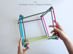 DIY construction toys for kids made from straws