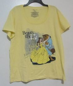 3ed604255be NWT Disney Store Womens Beauty and The Beast Yellow T-shirt 2XL