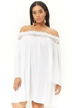 Plus Size Boho Me Off-the-Shoulder Crochet-Trim Dress Forever 21 Plus, Shop Forever, Crochet Trim, Forever 21 Dresses, Fashion Outfits, Womens Fashion, Latest Trends, Plus Size, Street Style