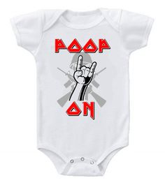Cute Funny Rock Star Baby Bodysuits One Piece Poop On Iron Maiden
