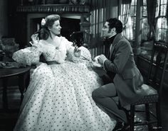 Still of Laurence Olivier and Greer Garson in Pride and Prejudice (1940)