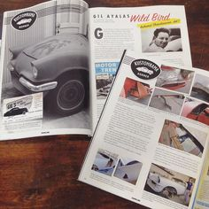 """Wild Bird fans look for """"Gasoline"""" magazine November issue out of Sweden a great article (in Swedish) about the one and only Gil Ayala! Thanks to the boys @kustomrama for sending over a couple copies :) #yarilscustoms #kustom #custom #gilayala #ayalabrothers #wildbird #55tbird #1955 #ford #tbird #restoration #survivor #history #miami #florida #hialeah #hamb #lowrider #losboulevardos #gilsautobodywork #kustomrama #gasoline #gasolinemagazine #sweden by yarilscustoms"""