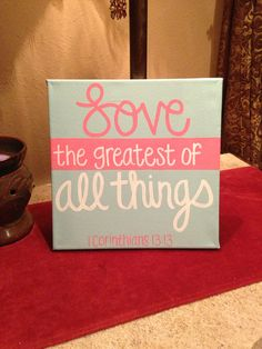 LOVE 1 Cor. 1313 HandPainted Canvas by MadebyMeaganCanvases