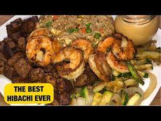 Steak and Shrimp Hibachi by Chef Bae Hibatchi Recipes, Steak Recipes, Shrimp Recipes, Grilling Recipes, Asian Recipes, Cooking Recipes, Cooking Stuff, Copycat Recipes, Hibachi Steak And Shrimp Recipe