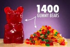 The Worlds Largest Gummy Bear is the equivalent of 1400 regular gummy bears. $29.99