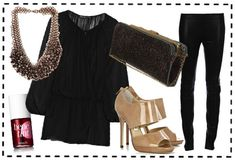 sleek + sophisticated look for a night out on the town #fashion
