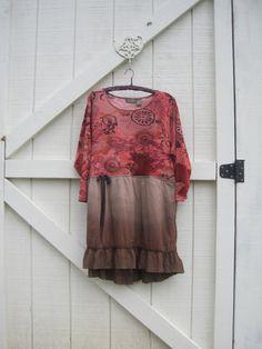 Boho mini dress Boho ranch dress Cowgirl mini by ShabyVintage, $47.00