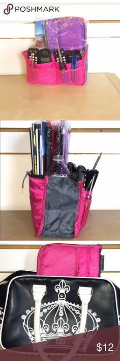 NWT 💟 Fuchsia PURSE/ make up / Travel ORGANIZER💗 Use this 19 pocket organizer to  transfer your essentials from one handbag to another without skipping a beat. I have this in Purple♐️ bubblegum pink,💓 bright fuchsia💗 Baby  blue🔵 Lime green 💚 and rosy red🔴 Groupon Bags Cosmetic Bags & Cases