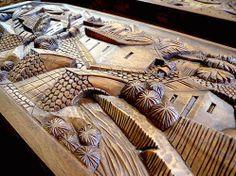 Fabulosos tallados en maderas preciosas. Valle de Ángeles, Honduras