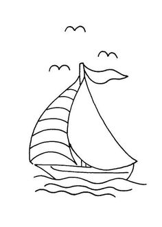 Coloring pages boats and sailboats - picture 5: