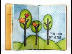 A Video by Shari Carroll on her Art Journal page created for the Simon Says stamp Blog.  June 2014