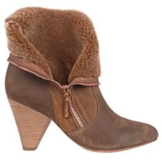 I am digging these boots so much. They look fantastic zipped and cozy hip down.