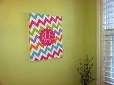 Canvas Wall Art!  Design your own with lots of background and monogram/lettering choices.