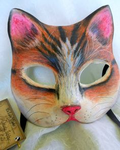 Orange Tabby Tiger cat Mask by MaLadyMasks on Etsy, $38.00