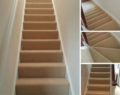 Beige Stair Runner Installation by The Flooring Group