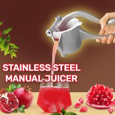 Want the juice version of any fruit Here are healthy fresh juices made easy Squeeze Any Kind Of Citrus Fruit With Ease Stainless Steal Cool Gadgets To Buy, Cool Kitchen Gadgets, Kitchen Items, Cool Kitchens, Gadgets And Gizmos, Kitchen Tools, Cooking Gadgets, Cooking Tools, Pan Cooking
