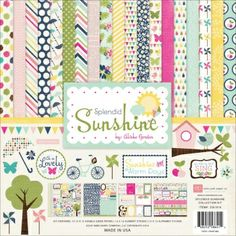 #Echo park splendid sunshine collection kit..from latest CHA release.Only at www.bitsanpieces.in