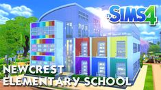 The Sims 4 -Speed Build- NEWCREST ELEMENTARY SCHOOL! (Working School)