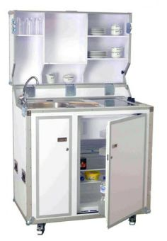 Pro Art kitcase Kofferküche mit Kühlschrank - Weiß | Mobile Küchen | Miniküchen | Küchenmöbel | Küchenmöbel & Küchentechnik | lemoboo