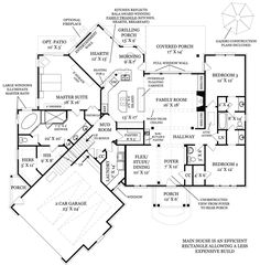 First Floor Plan image of Da Diva House Plan: 2393sf one level