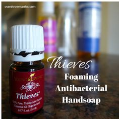 Easy DIY Foaming Handsoap with Thieves Oil. Kills Bacteria!