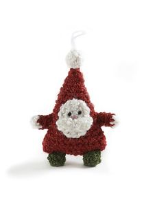 This Christmas decoration can be used as a toy or an ornament. (Lion Brand Yarn)