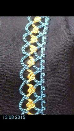 Alıntı Crochet Boarders, Crochet Lace Edging, Crochet Trim, Filet Crochet, Love Crochet, Crochet Hooks, Crochet Baby, Crochet Edgings, Knit Crochet