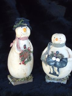 christmas gourds crafts | | Handmade SnowMan | Christmas Snowman | Handmade Primitive Crafts ...