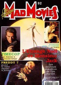 Mad Movies n°092, novembre 1994. LES FILMS : L'Étrange Noël de Mr Jack. Entretien avec un Vampire. Freddy 7. Inoshiro Honda