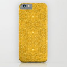 Golden Knit Pattern iPhone & iPod Case