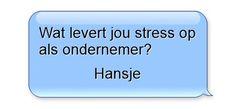 Wat levert jou stress op als ondernemer?