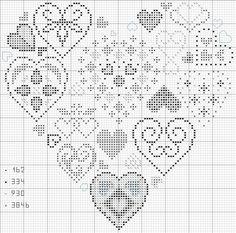 cuscini a forma di cuore a punto croce - Cerca con Google