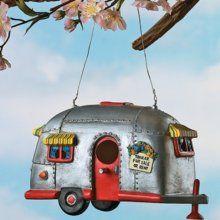 OTC Camper Birdhouse Trailer Bird House Airstream Style RV Home Decor Yard Garden Porch Patio Country $17