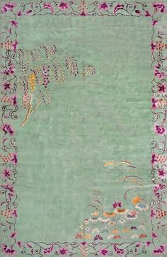 "#216 Chinese Art Deco carpet  10'0"" x 15'6""  circa 1930"
