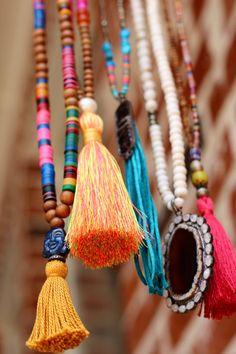 Boho Yoga Buddha Tassel Necklace Vintage by HappyGoLuckyJewels