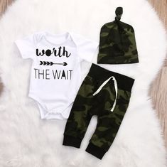 Clothing Sets Boys' Baby Clothing Popular Brand Baby Boy Cotton Camo Clothes Set Newborn Infant Camouflage Sweatshirt Tops+pants 2pcs 2017 New Baby Boy Clothing Set Tracksuit Packing Of Nominated Brand