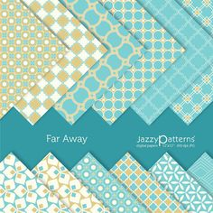 Far Away digital scrapbooking paper pack  DP050 by JazzyPatterns, $5.50