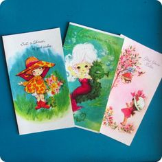 Cute vintage greeting cards! (will be for sale soon hopefully)
