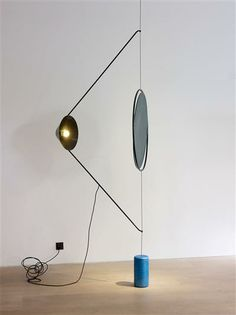 FAYE TOOGOOD Wing Light, United Kingdom, 2011 Realised in Steel, Patinated Sand-Cast Bronze, Tinted Glass