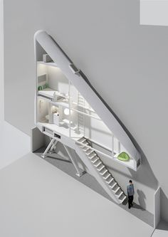 The Keret House is a tiny home that is currently being built in a passageway between two large buildings in Warsaw. It is just 47 inches wide at the front and 28 inches wide in the back, which makes it the narrowest house in the world (sorry Scotland's Wedge House). The 150 square foot house includes a bed, desk, tiny kitchen, and shower. The water and septic systems are inspired by boat design and are self-contained. The house will serve as a retreat and workplace for Israeli writer Etgar…