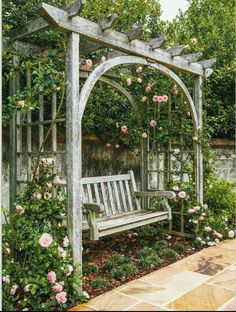 The wooden pergola is a good solution to add beauty to your garden. If you are not ready to spend thousands of dollars for building a cozy pergola then you may devise new strategies of trying out something different so that you can re Small Garden Pergola, Garden Arbor, Pergola Swing, Pergola Plans, Gazebo, Pergola Ideas, Diy Pergola, Garden Swings, Wooden Pergola