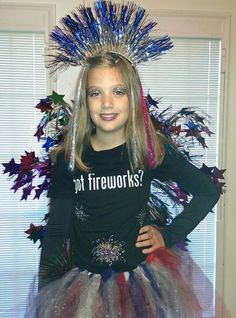 Fireworks costume....my KK Super easy to make too! Friend me on Facebook to get the instructions. Facebook profile Tricia Butler Foster