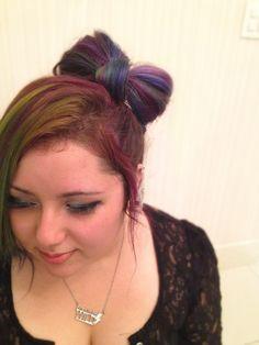 Ribbon Hair • Rainbow Hair • Rainbow Bow • Rainbow Ribbon • Laço de Cabelo • Cabelo arco-íris • cabelo colorido • dyed hair • green hair • purple hair • blue hair • laço • born to be wild • @ami_sama